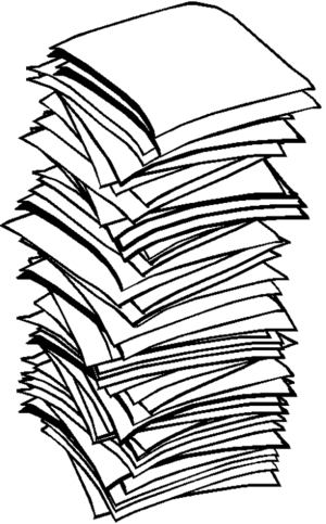 Stack of clipart. Paper world label