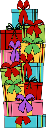 Stack of clipart tall. Christmas gifts clip art