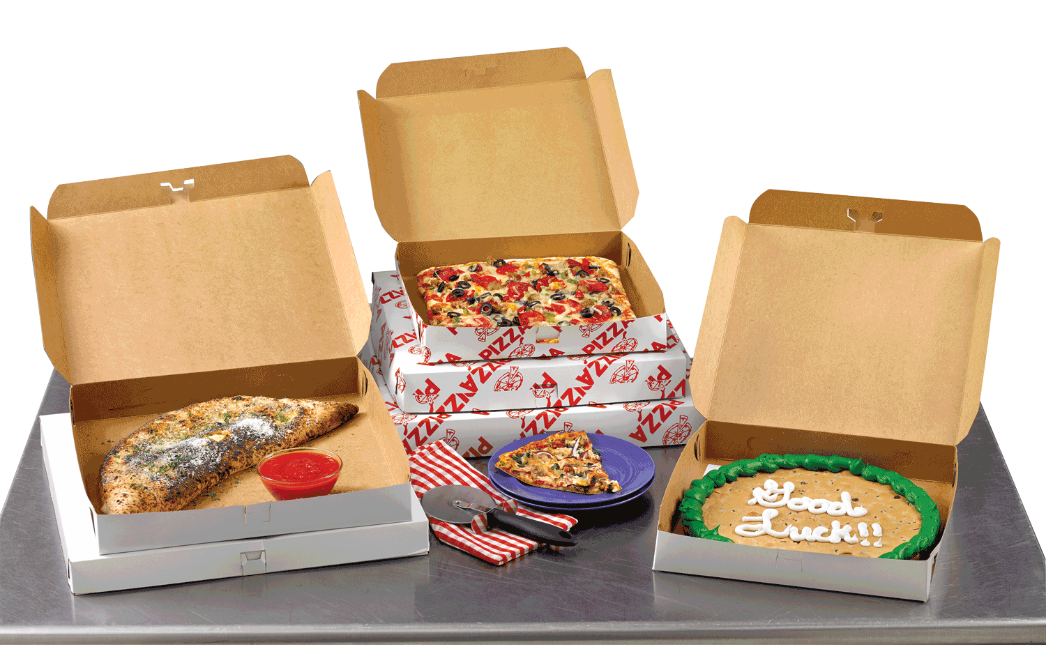 stacked pizza boxes png
