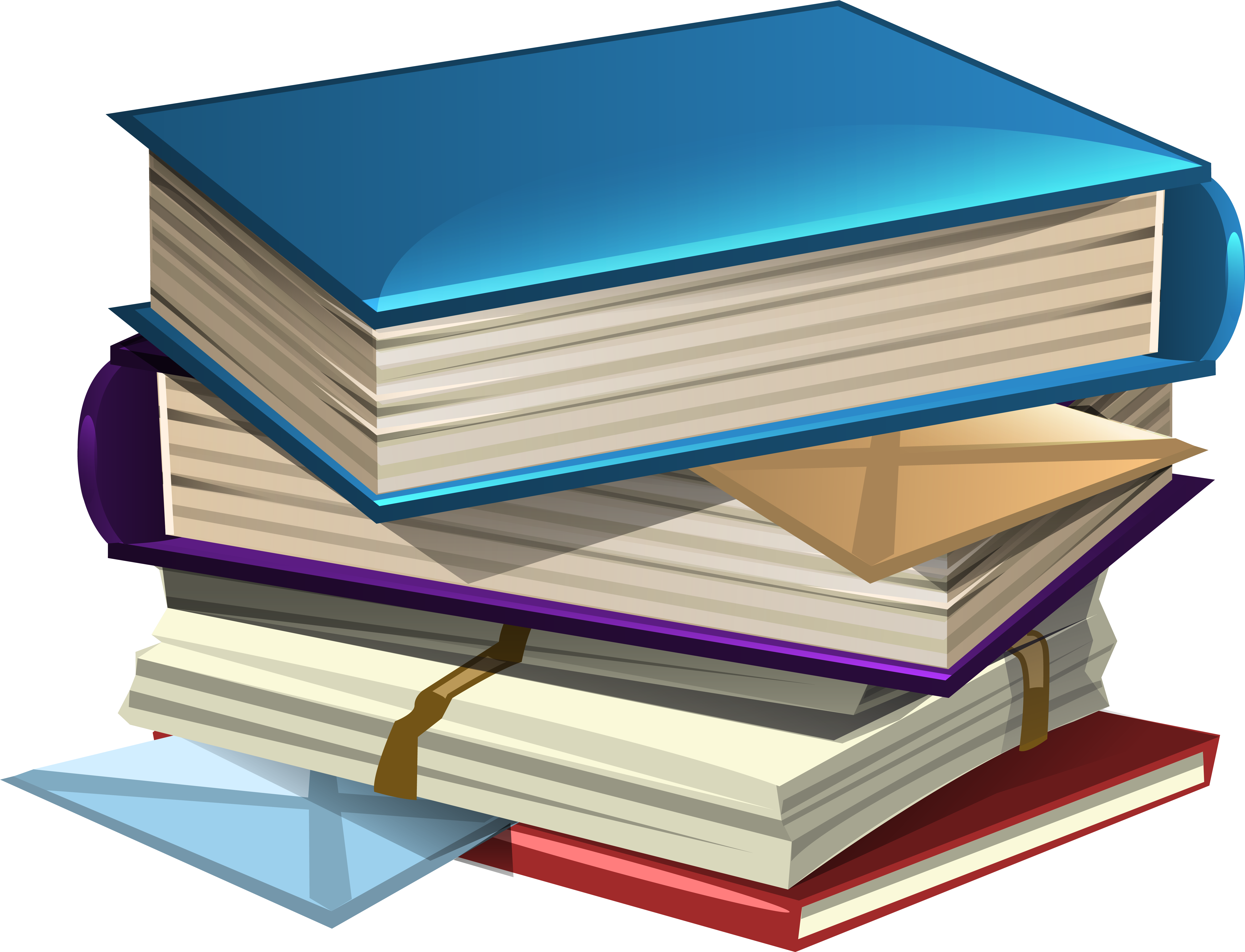 Stack of school books png. Download and book clipart