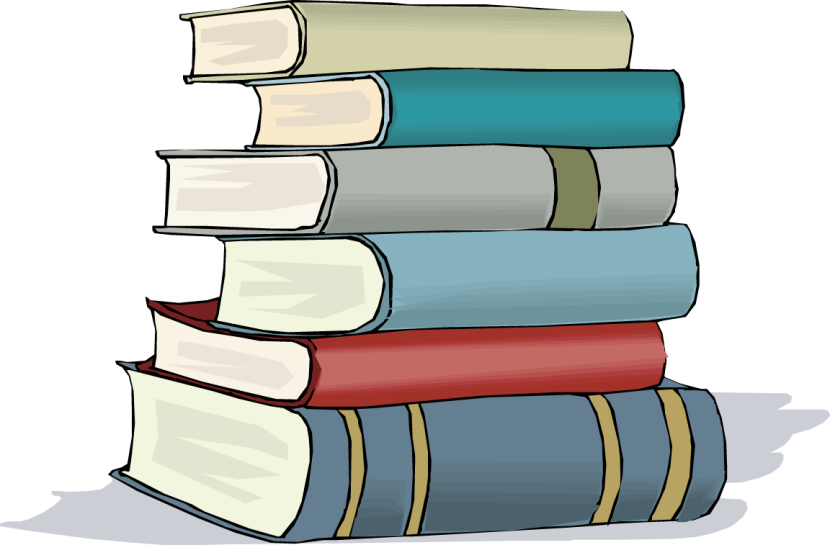 Stack of school books png. Collection book clipart