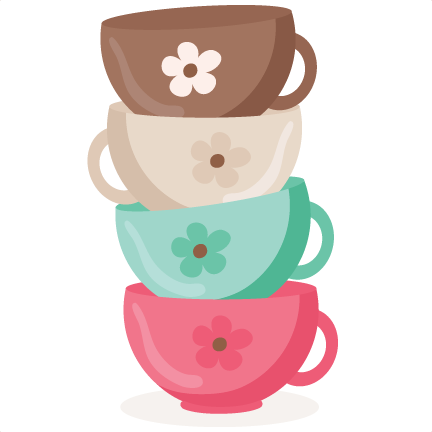 Stacked tea cups png. Svg scrapbook cut file
