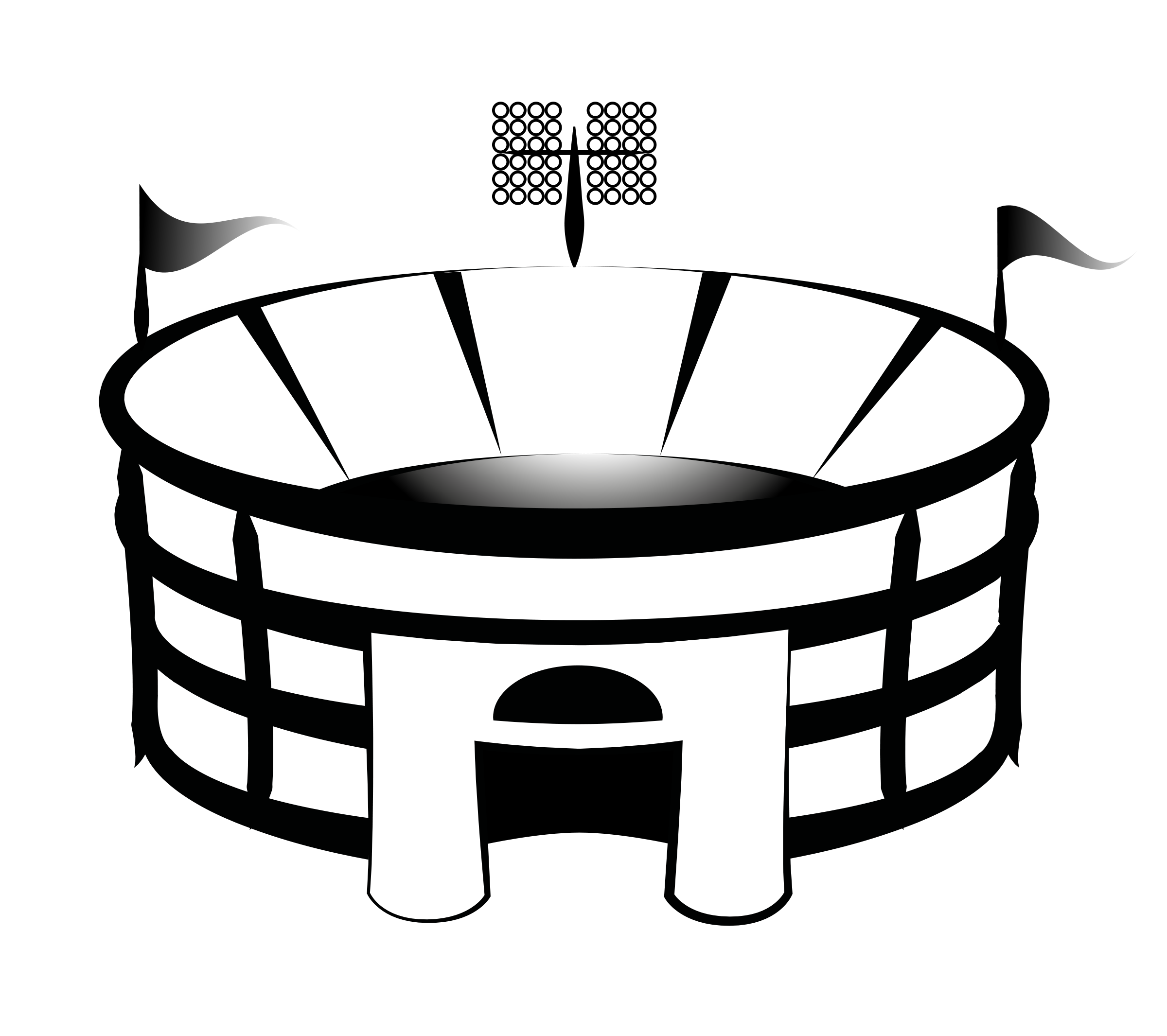 Crowd clipart stadium seating. Free baseball download clip