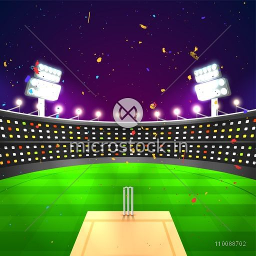 Glowing night background with. Stadium clipart cricket stadium banner freeuse download