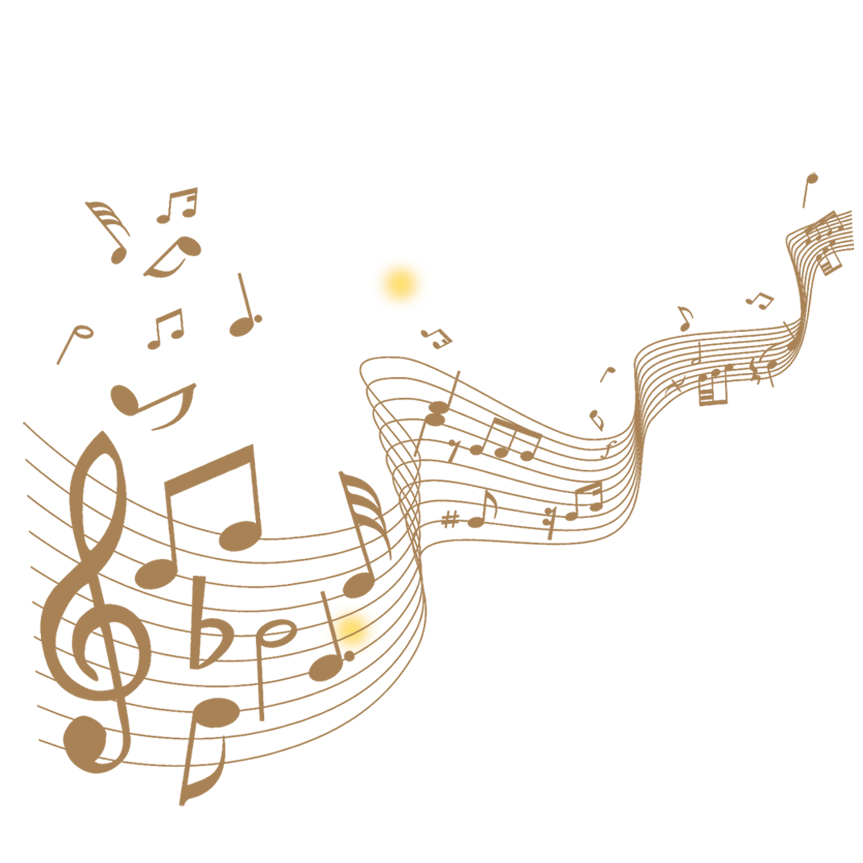 Staff music notes png. Musical note transprent free