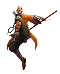 Staff transparent monk. Male human pathfinder pfrpg