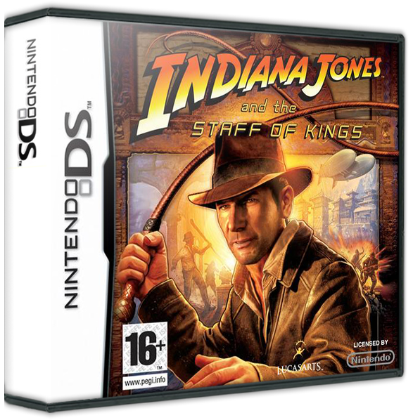Staff transparent video game. Indiana jones and the