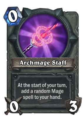 Staff transparent video game. Archmage hearthstone cards quick