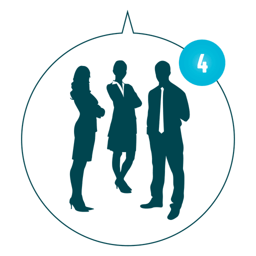 Staff vector png. Office hangout silhouette transparent