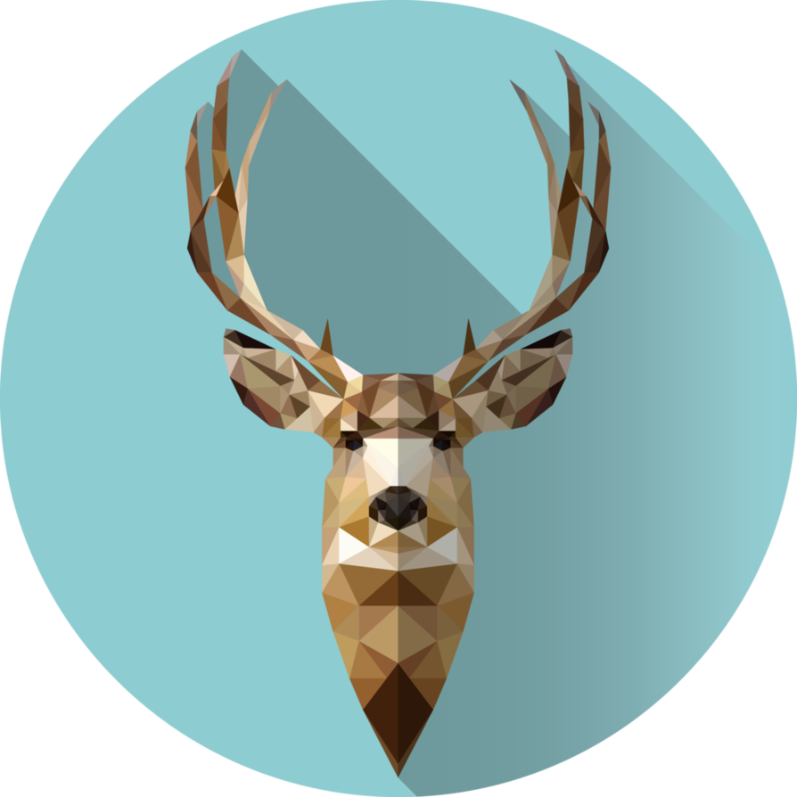 stag vector low poly