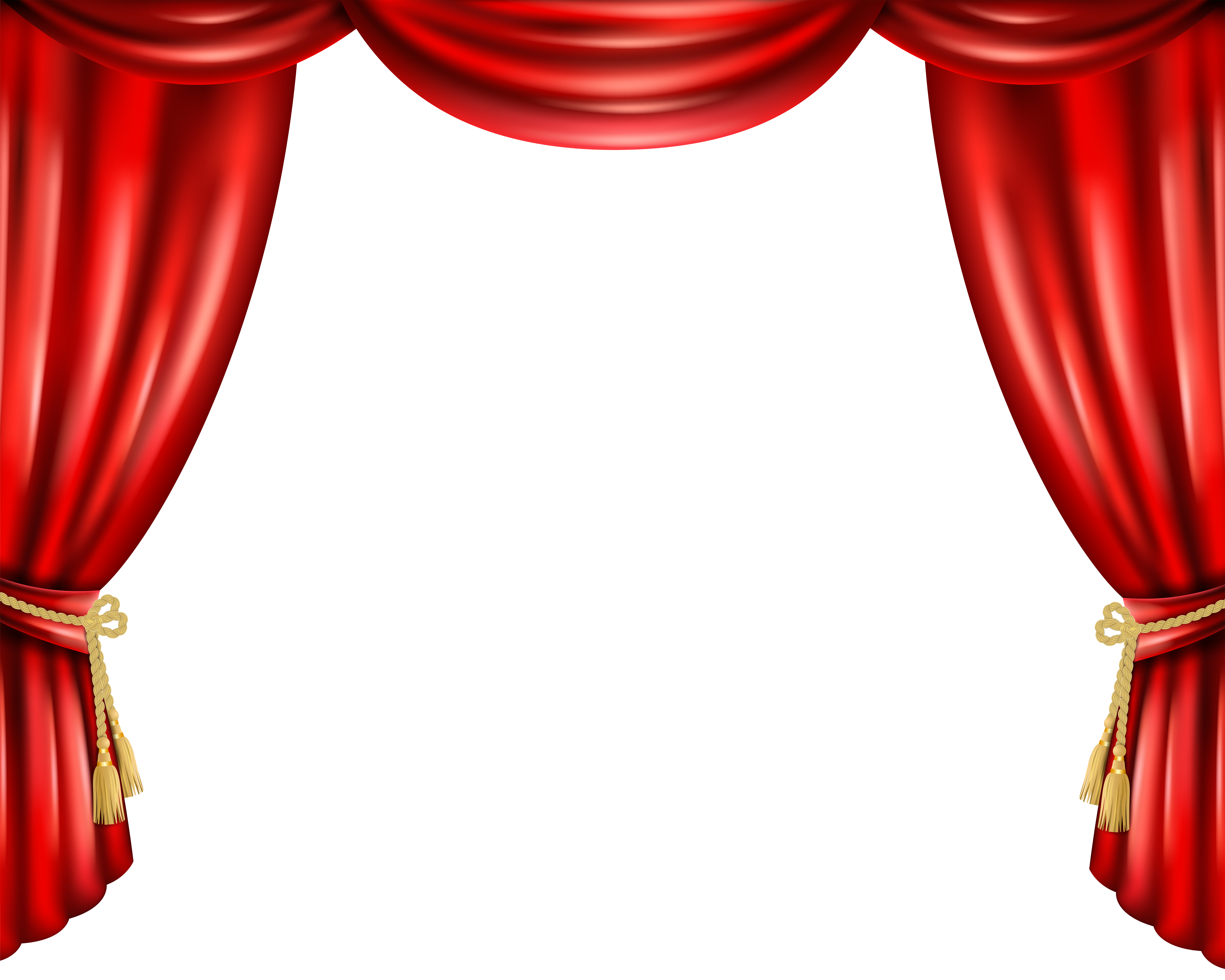 Red curtain transparent clip. Stage curtains clipart png jpg freeuse library