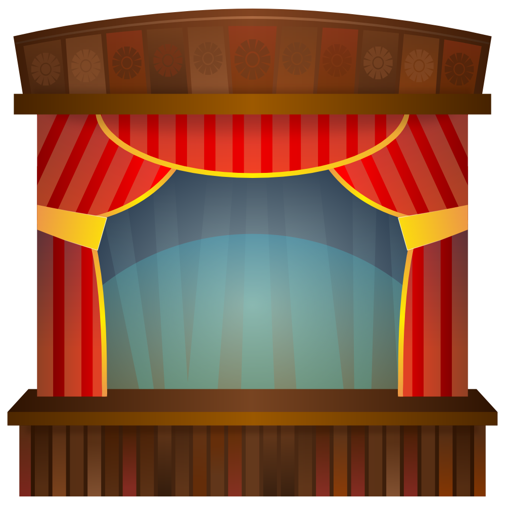 Stage clipart. Panda free images stageclipart