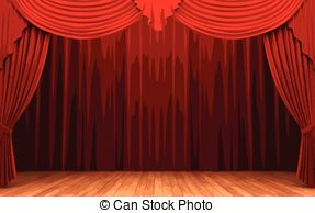 Curtain clipart curtain raiser. Stage vector eps images image freeuse stock