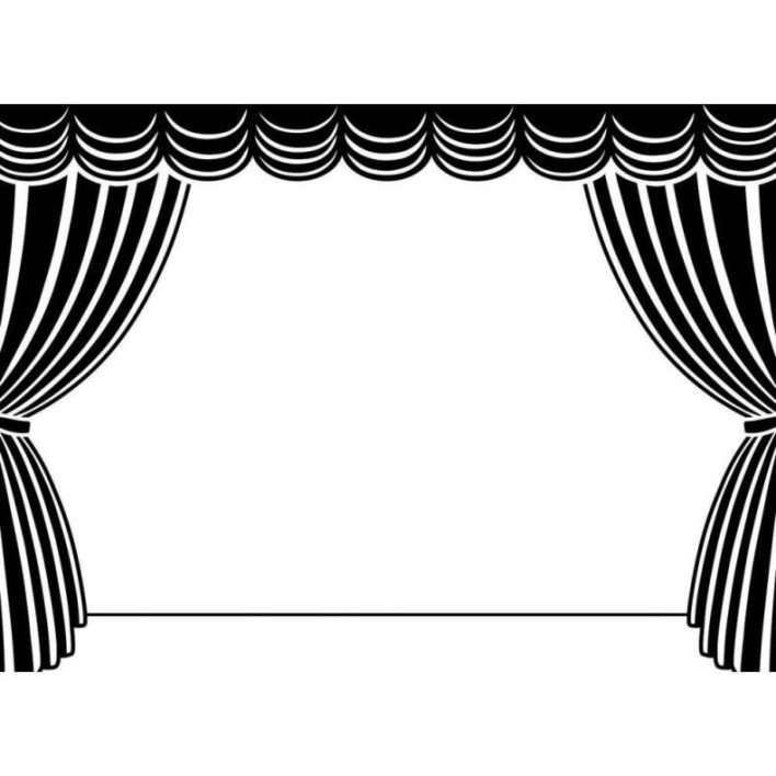 Stage cilpart fantastical curtains. Curtain clipart black and white picture freeuse download
