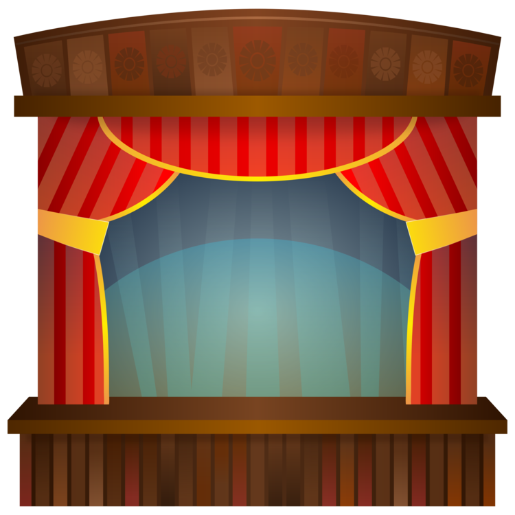 Theatre vector stage lights. Theater drapes and curtains