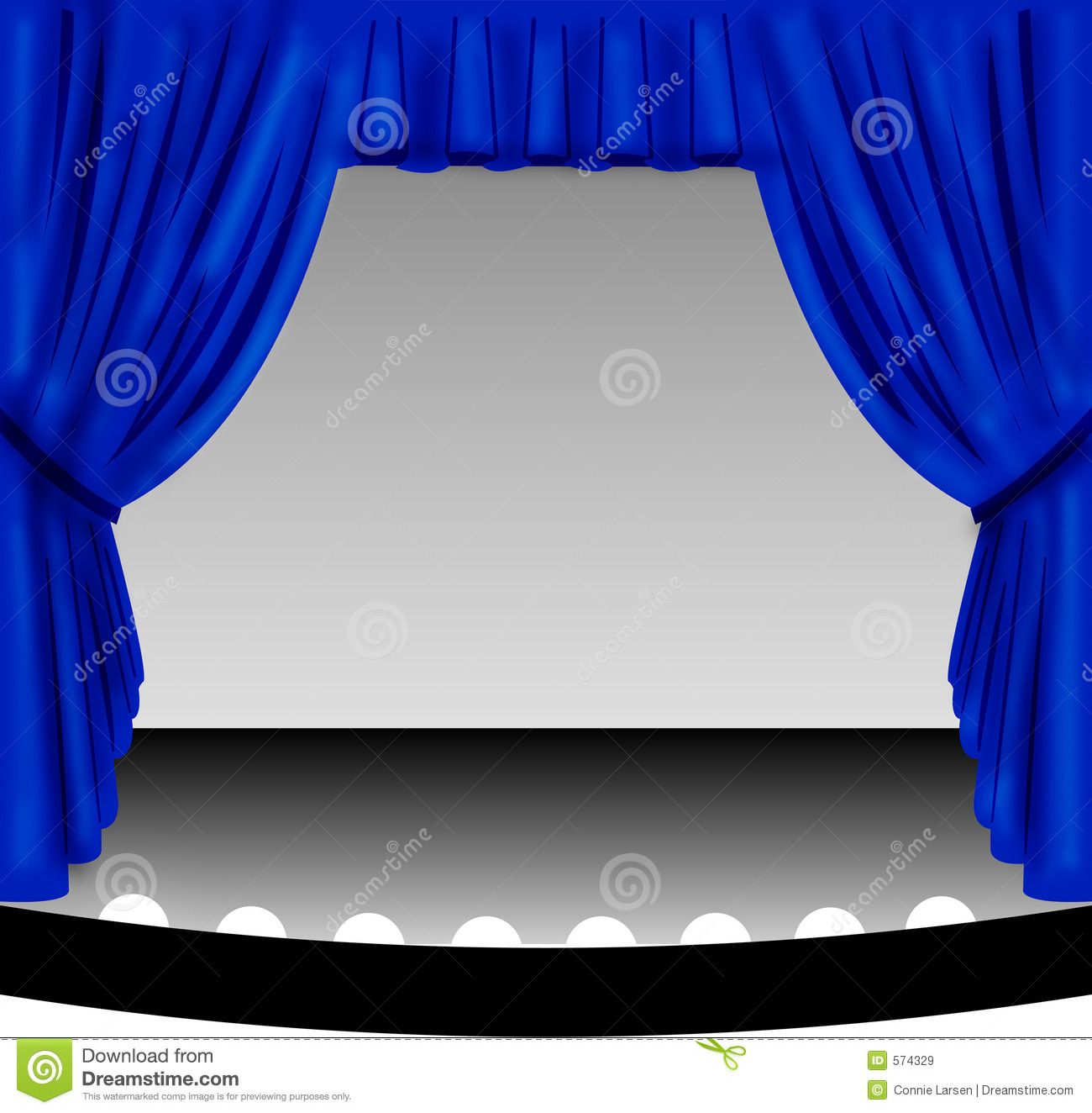 Stage stock illustration of. Curtain clipart blue curtain banner royalty free download