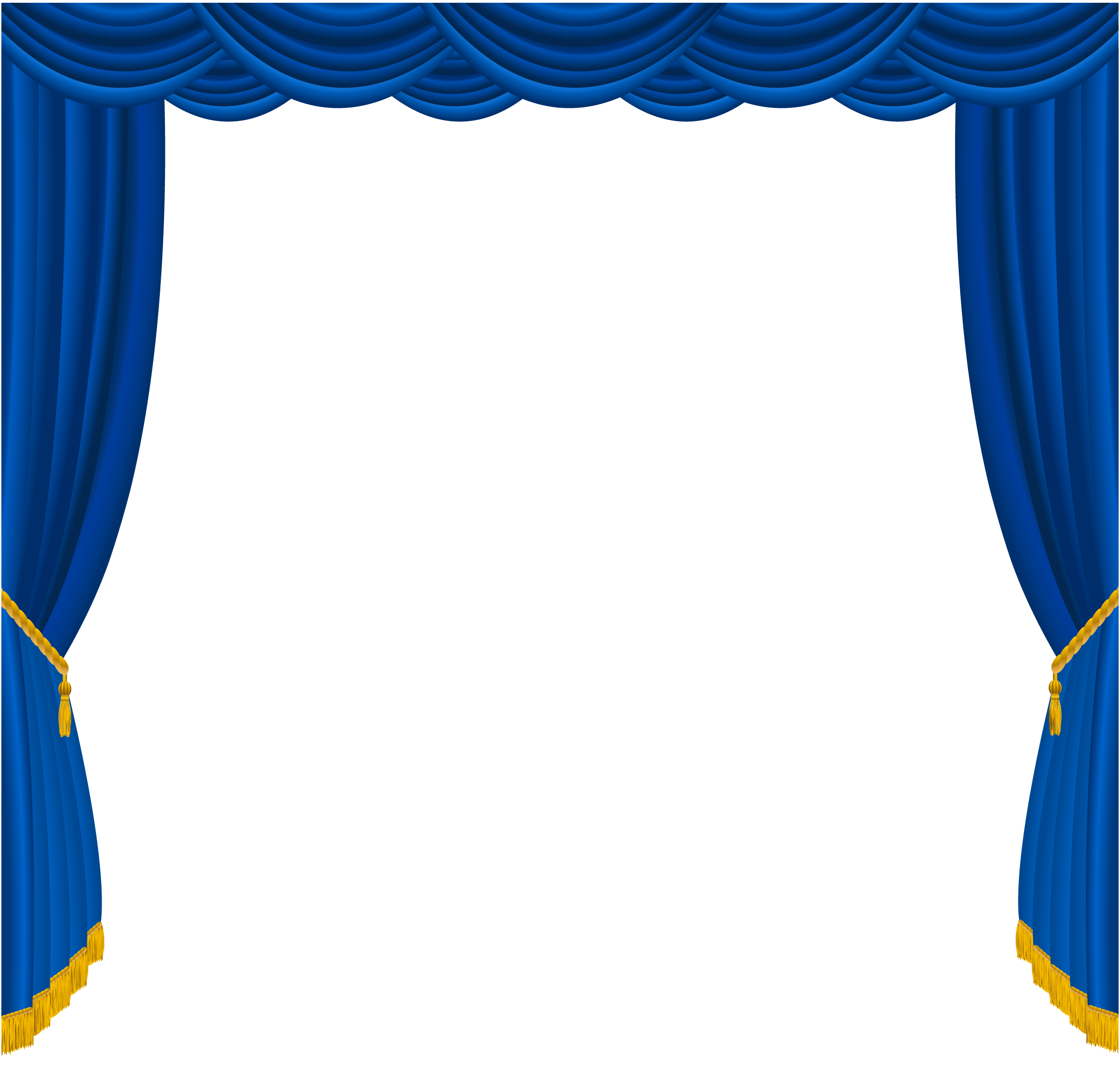Silk curtain png. Transparent blue curtains decor