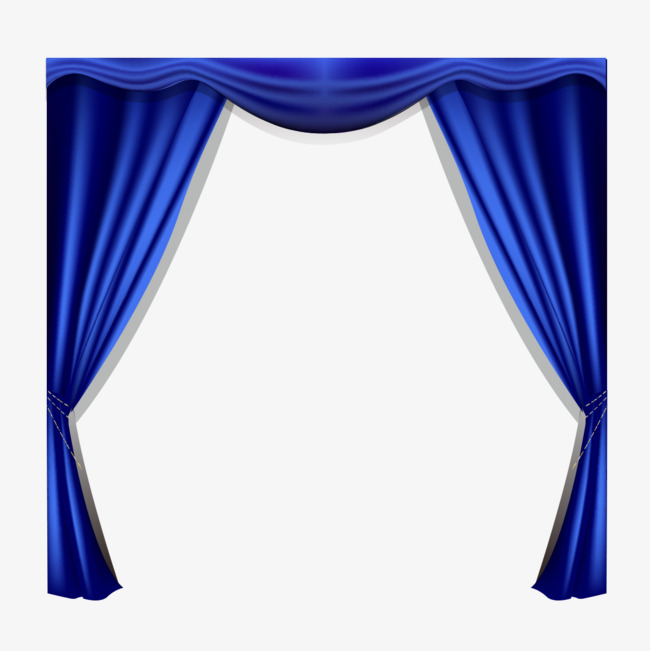 Curtain clipart blue curtain. Gradient curtains gradual change