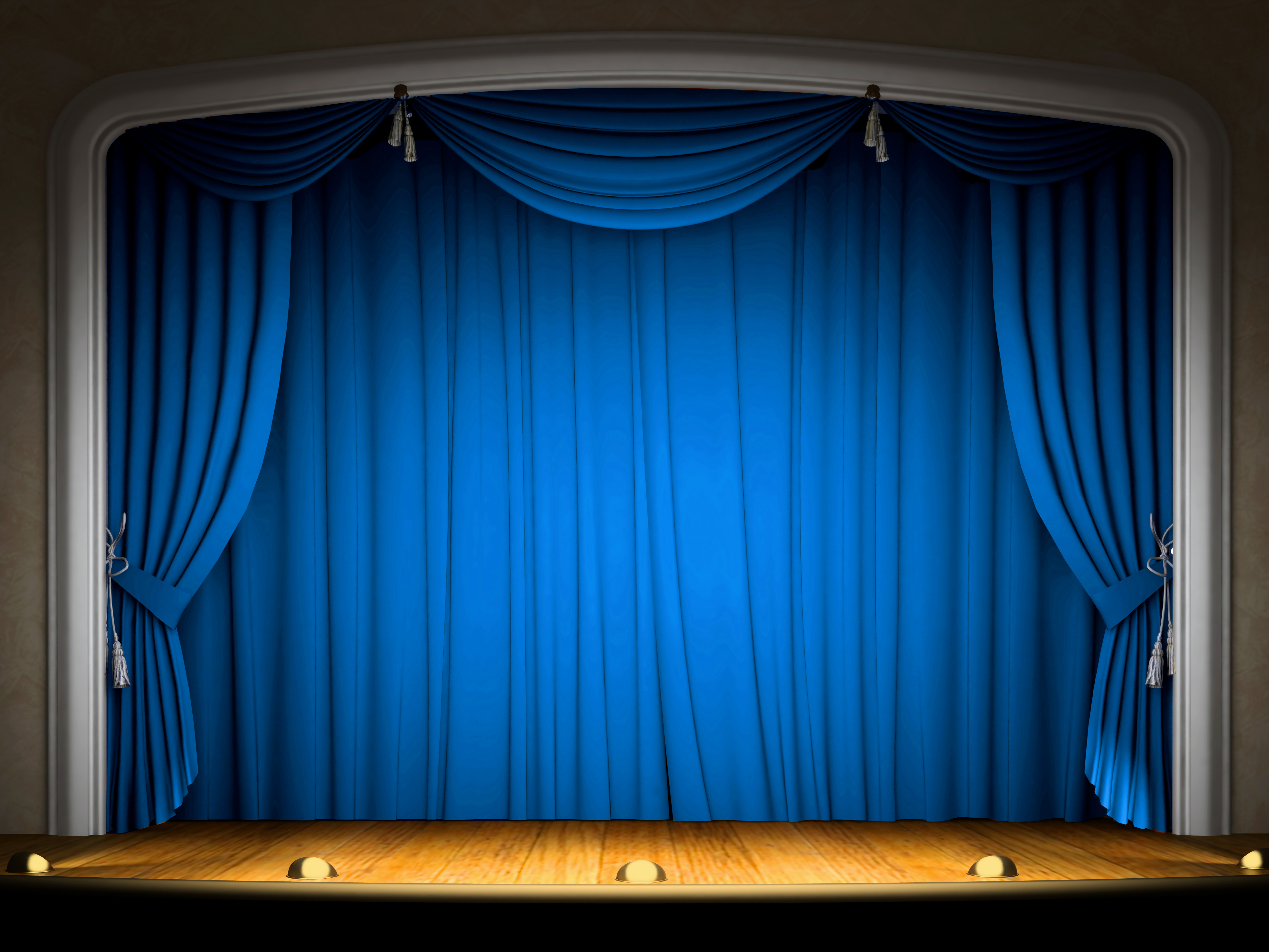 Stage clipart blue curtain. With curtains background gallery
