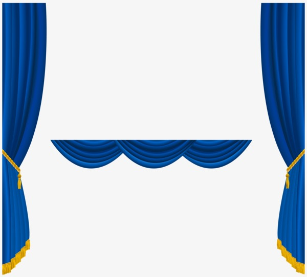 Stage clipart blue curtain. Drapes png image and