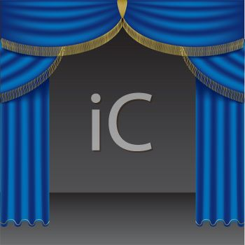 Picture of bright curtains. Curtain clipart blue curtain graphic transparent download