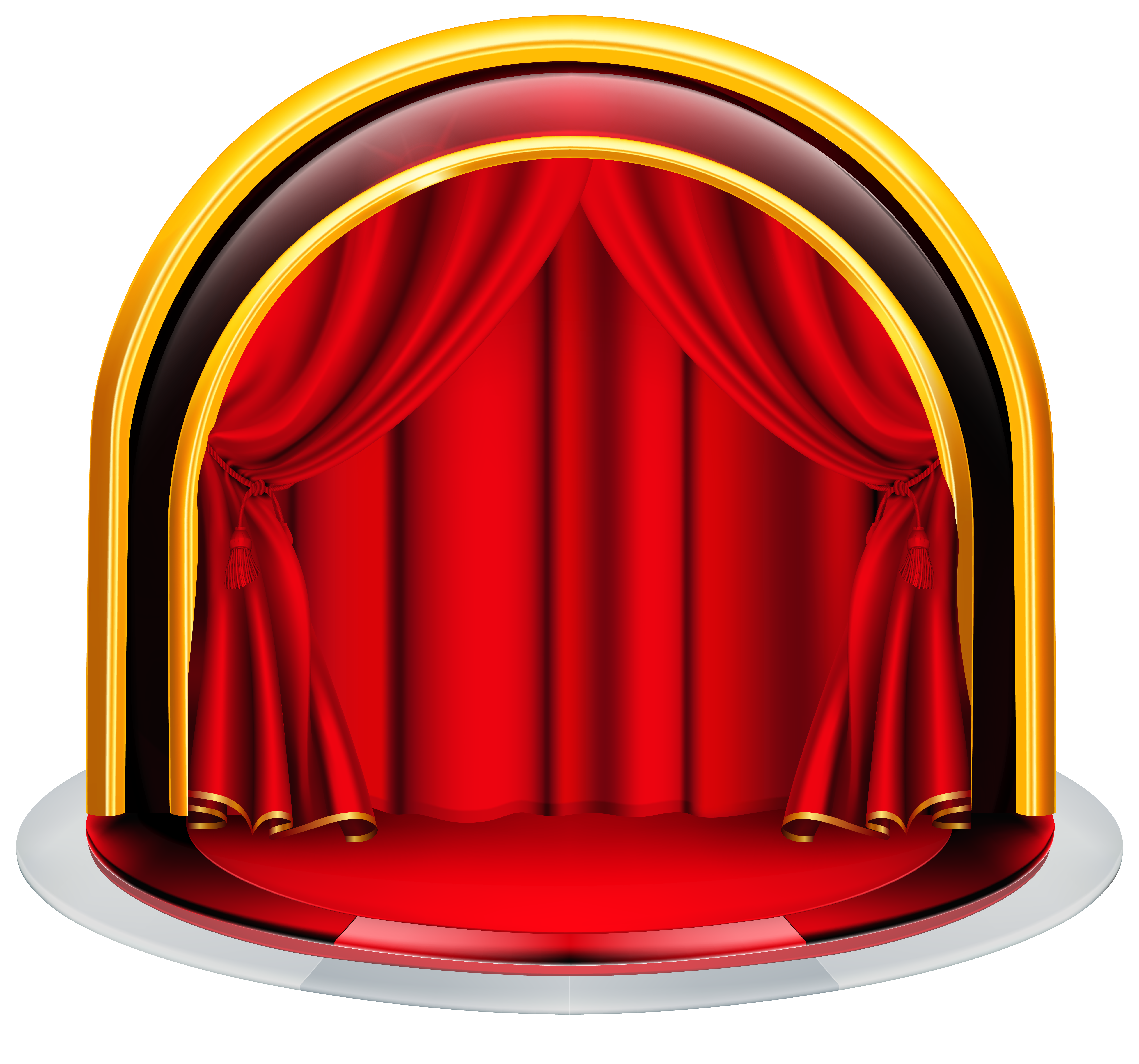 Stage clipart empty stage. With red curtains png