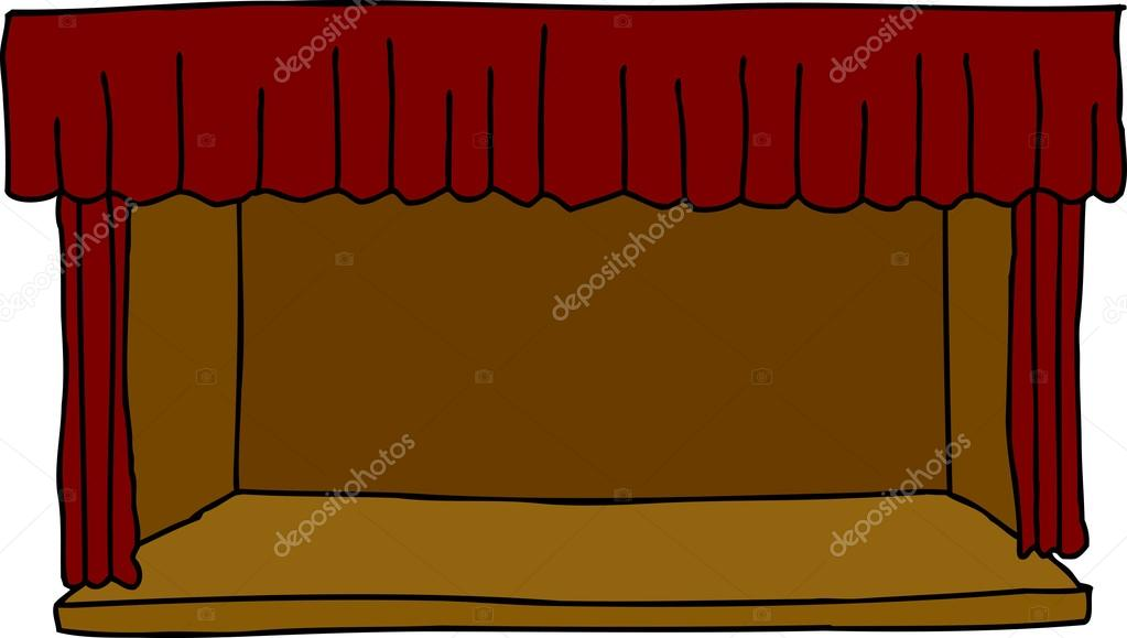 Stage clipart empty stage. Stock vector theblackrhino