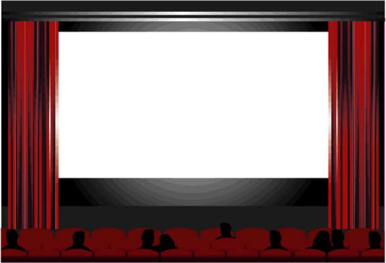 Stage clipart movie theater screen.