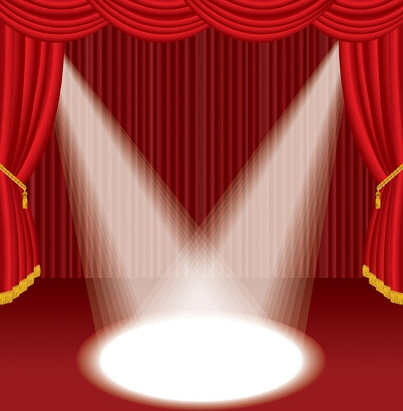 Stage clipart stage curtain. Background pencil and in