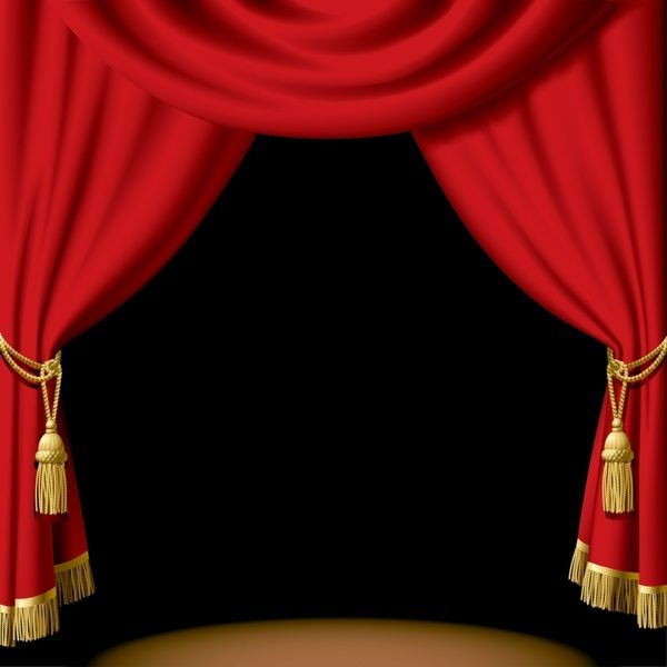 Stage clipart stage curtain. Curtains ideas red theater