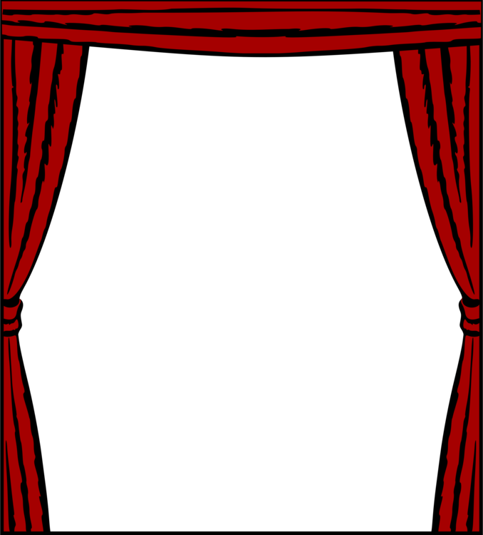 Theater drapes and stage. Curtains clipart curtain frame jpg free library