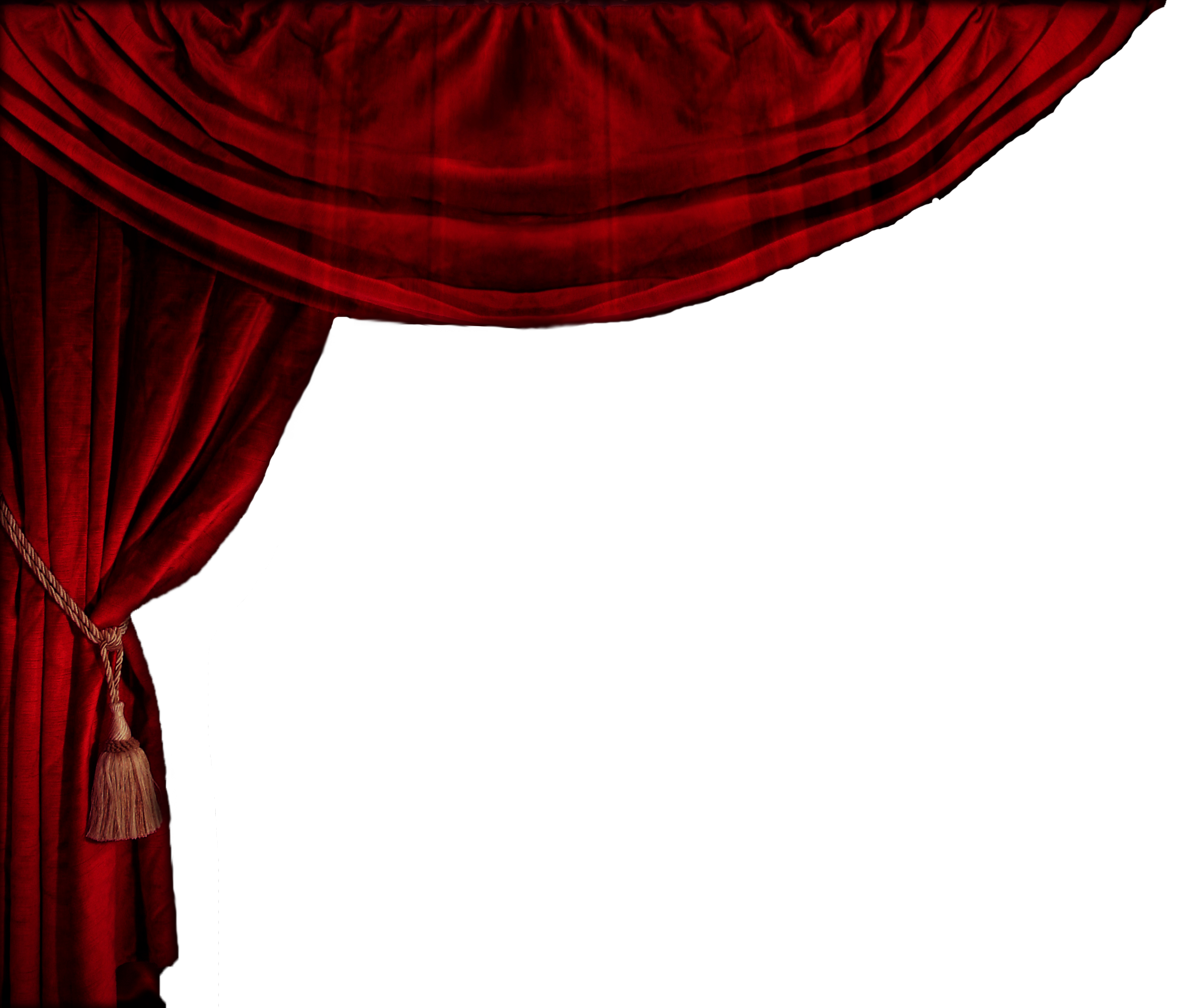 Stage curtain png. Red