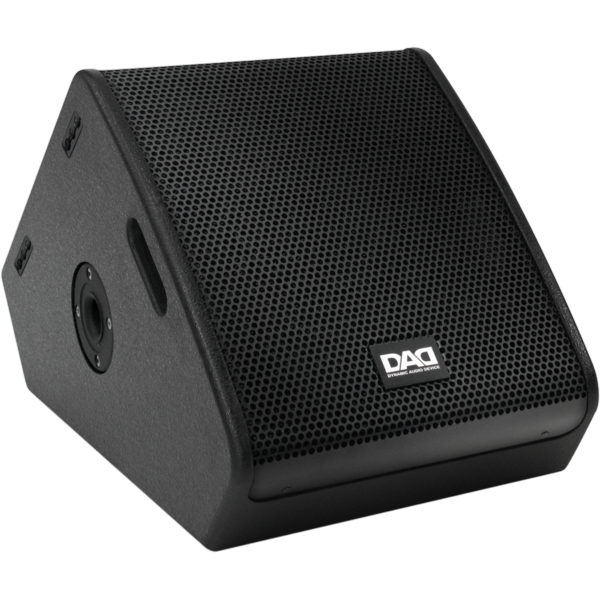 Speaker transparent stage. Dynamic audio device touring