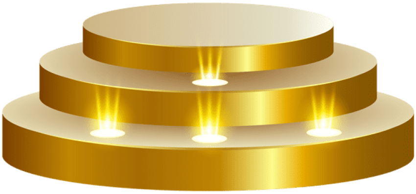 Stage transparent gold. Download podium clipart png