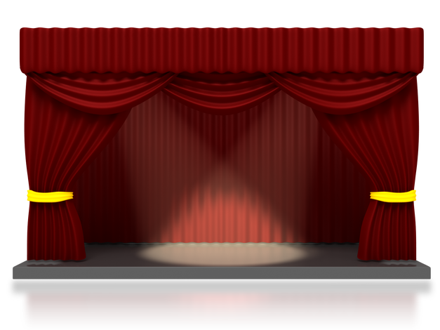 Stage transparent empty. Mixed elements baileys funblog