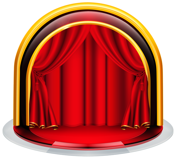 Stage .png. With red curtains png