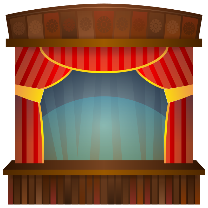 Stage transparent cartoon. Clipart frames illustrations hd