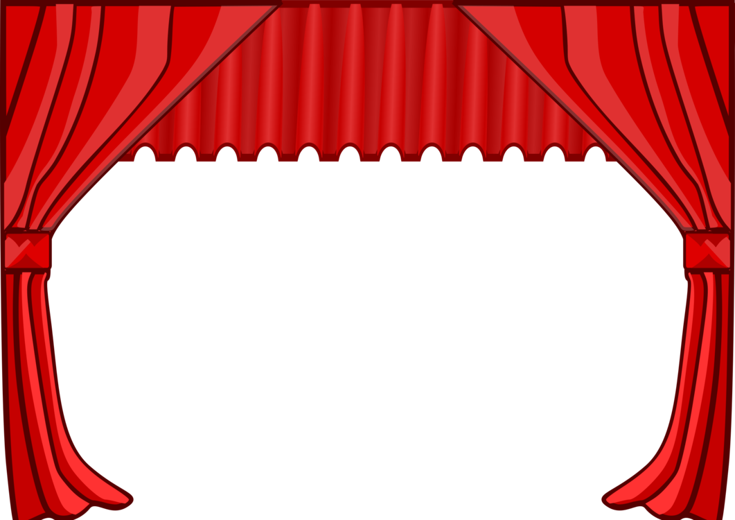 Stage transparent cinema. Theater drapes and curtains