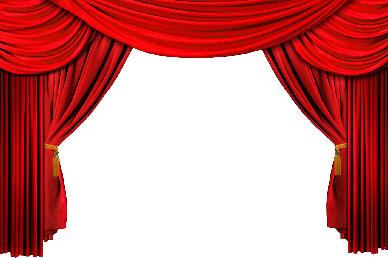 Stage transparent curtain open. Shell cut rjs tax