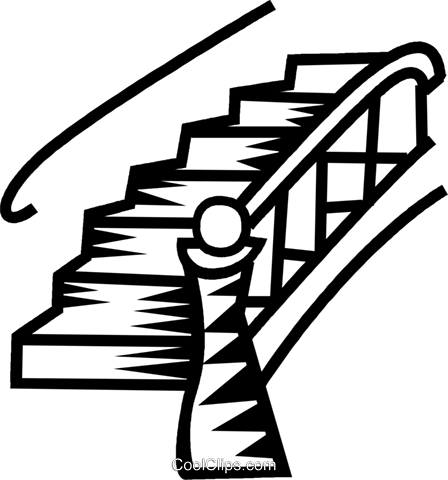 Staircase vector stair step. Black and white stairs