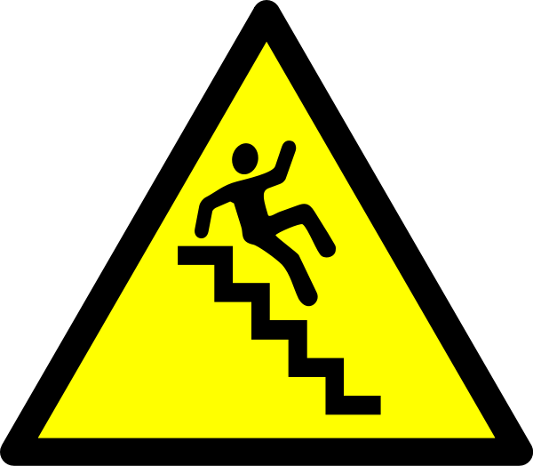 Staircase vector. Caution stairs clipart panda