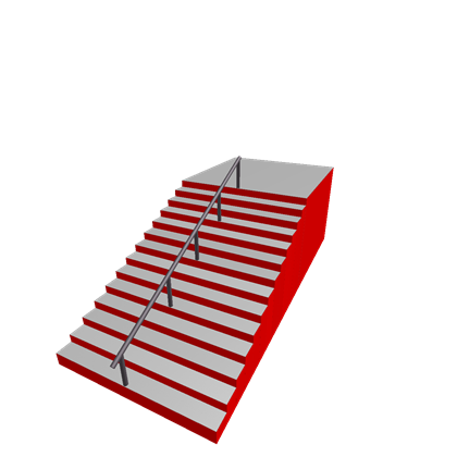 Staircase clipart red stair. Stairs rail roblox