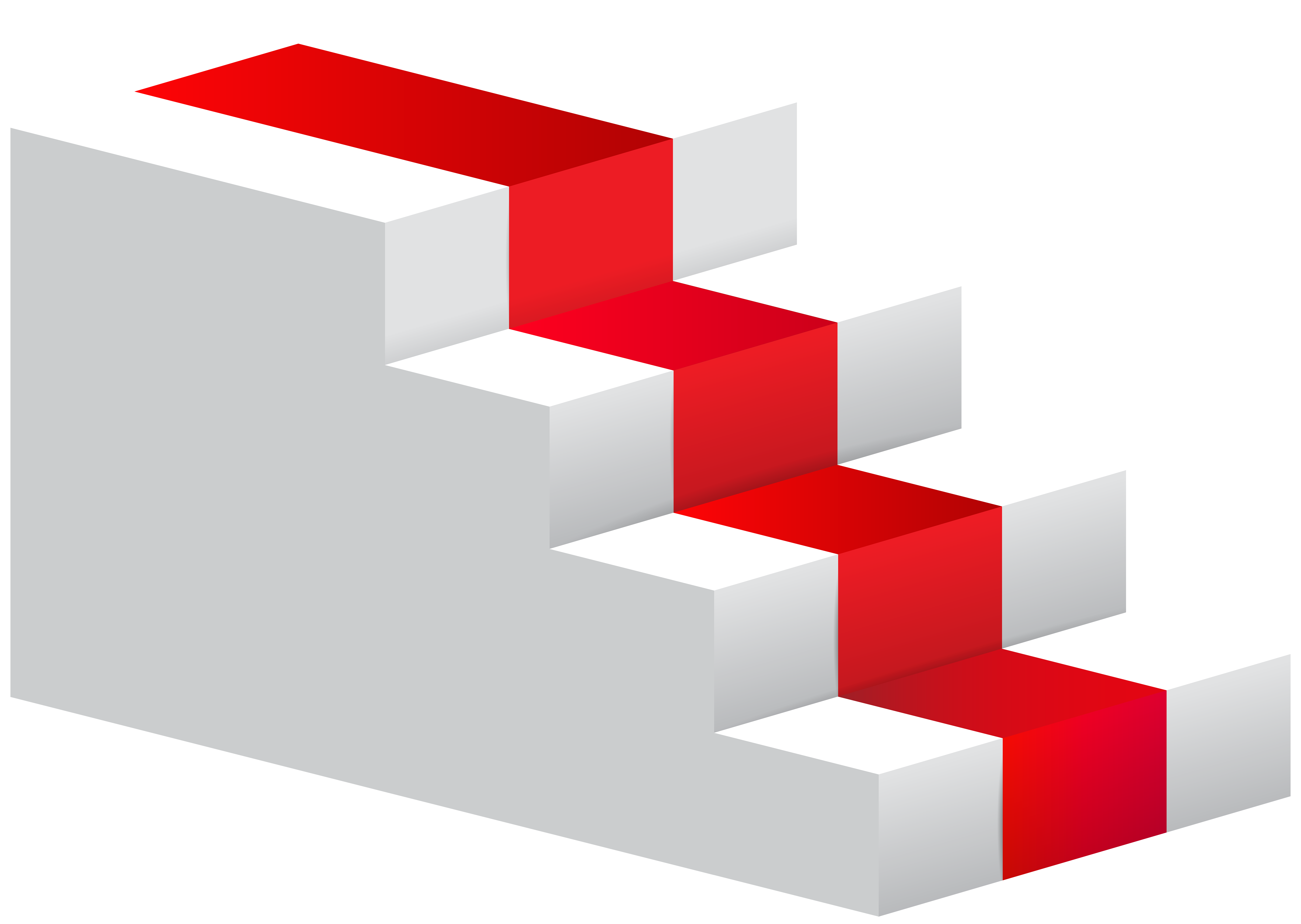 Stairs transparent red. Png clip art image