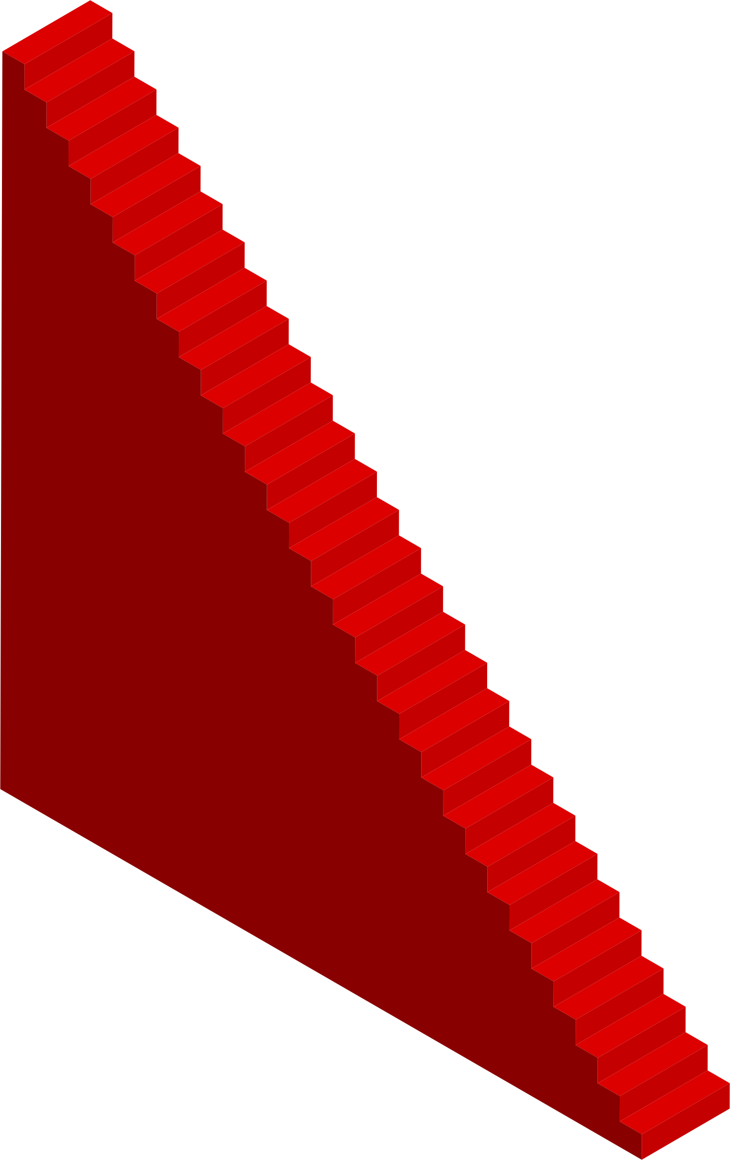 Staircase clipart red stair. Isometric stairs long big