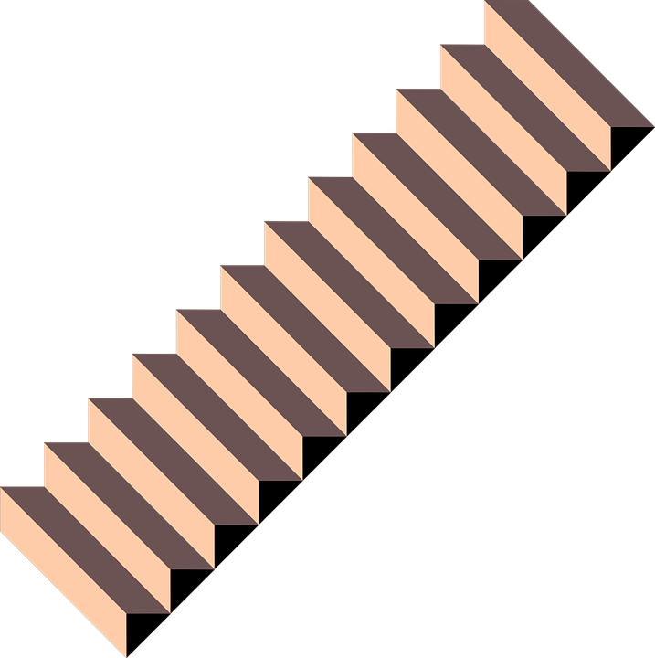 Steps vector stair side. Staircase clipart view