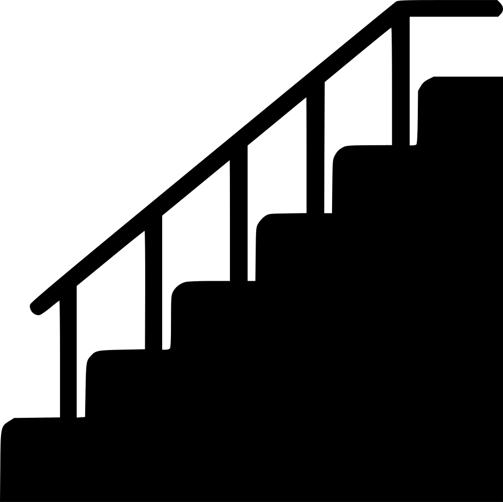 Success drawing staircase. Stair silhouette at getdrawings