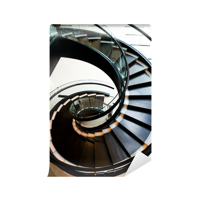 Staircase vector spiral. Stair case wall mural