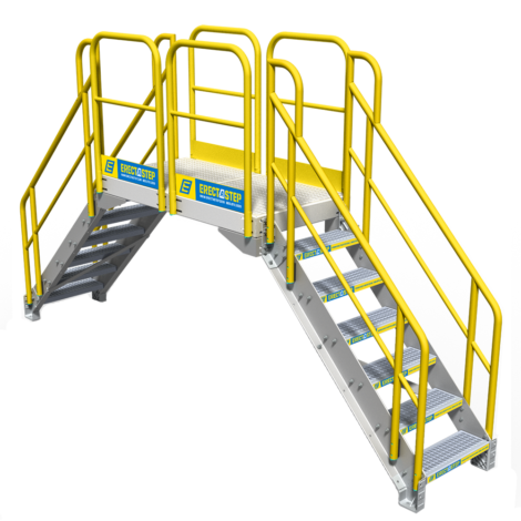 Staircase vector stair step. Industrial stairs powder coated