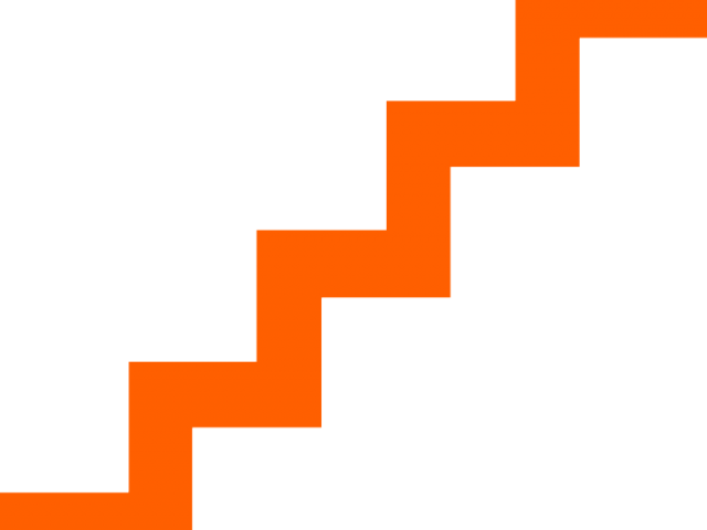 Staircase vector stair step. Stairs clipart rainbow free