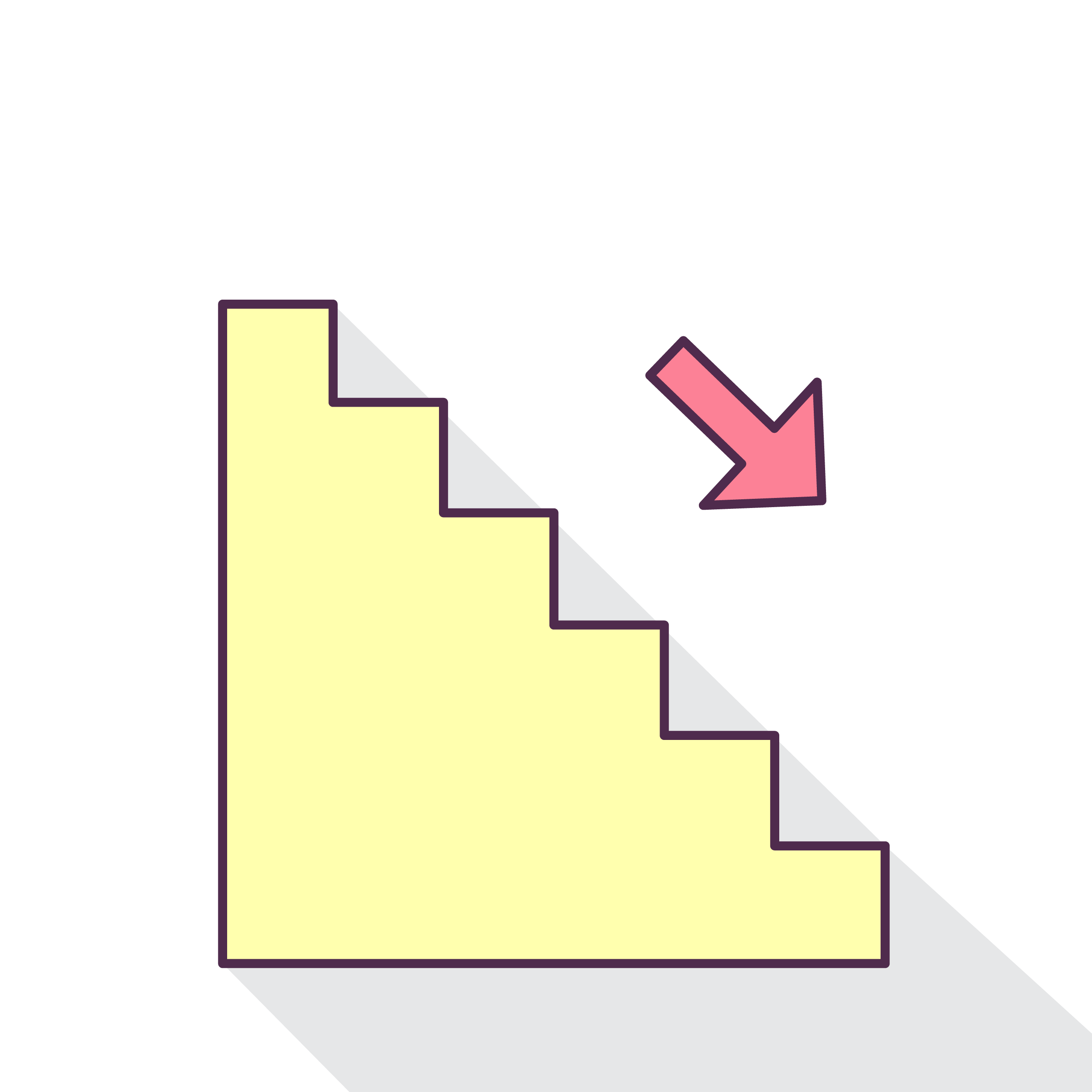 Staircase vector stair symbol. Trinetra about free indian